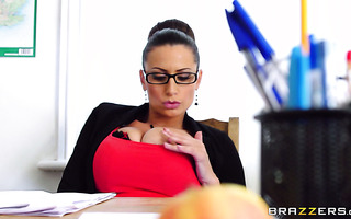 Strict busty teacher Sensual Jane gets screwed by student boy