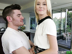 Pale and skinny college girl Maddy Rose VS big dick