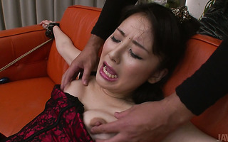 Wicked dildoing wet narrow pussy of submissive Ayumi Iwasa