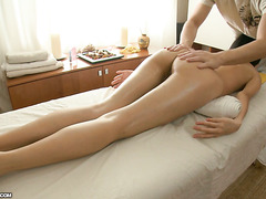 Massage and deep pumping for leggy Asian chick Nicoline Yiki