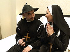 Hot and sinful Latina nun Valentina Sweet confesses to her horny priest