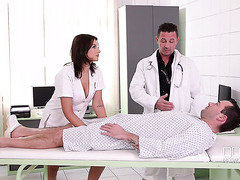 Patient and horny doc double penetrate curvy Russian nurse Anna Polina