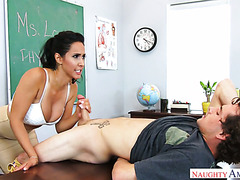 Fabulous teacher Isis Love fucks her student right in a college