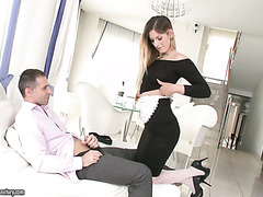 Hungarian housemaid Mira Sunset gives her employer extra service