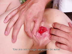Lilian Tiprova gets hurt during her first time but keeps fucking till the end