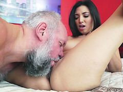 Old redneck fucks an exquisite Mexican girl Frida Sante