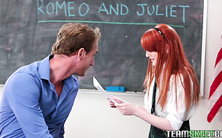 Krystal Orchid fucks a teacher after rehearsing Romeo and Juliet