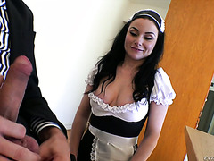 Dirty anal banging with slutty French maid Veruca James