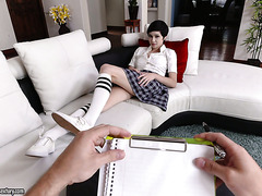 Teen Cadey Mercury fucks a psychologist during a therapy session