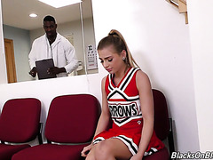 Injured cheerleader Sydney Cole gets healed by doctor's black cock