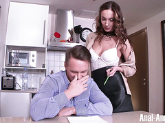 Burning hot Russian tutor Hazel Dew seduces her lucky student