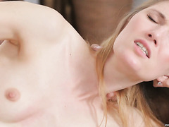 Mesmerizing Russian babe Eva gets her sweet holes fucked nice & slow