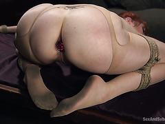 Пышная Лорен Филипс связана веревками и оттрахана в ее смачную задницу