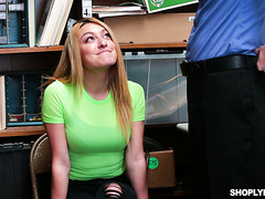 Alexa Raye gets caught on purpose to get fucked by security guy