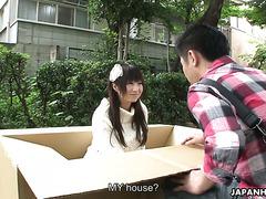 Прямая доставка смазливой хуесоски Мику Тамару в картонной коробке