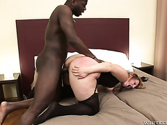 Happy black guy doggyfucks Magda, Euro MILF with the phattest booty he'd ever seen