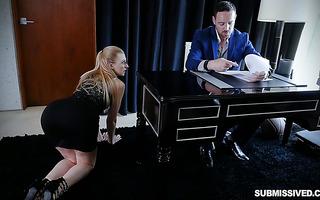Big boss goes berserk on tight pussy of sexy blonde secretary Alexa Grace
