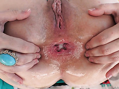 Dana DeArmond pampers her big booty with a fat dick