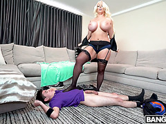 Big momma Alura Jenson owns son's tiny but hung friend Juan