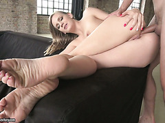 Sassy Euro blond Lucette Nice gets her fine ass drilled