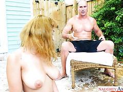 Marilyn Mansion seduces bestie's bro with her big Latin tits