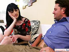 Brunette Alex Harper savors her bestie husband's big cock