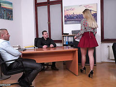 Selvaggia gets her Russian holes DPed by boss and business partner