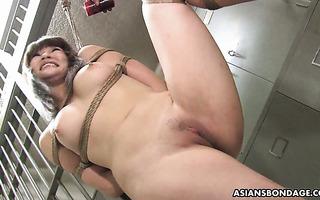 Hot Japanese slave Yukina Mori is bondaged and gang fucked
