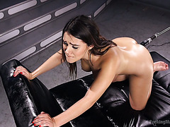 Bombshell from Italy Valentina Nappi is boned by fucking machine