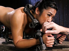 Mia Li is immobilized and punished by hardcore orgasms