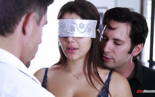 MMF threesome surprise for gorgeous wife Valentina Nappi