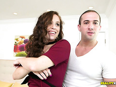 Chestnut haired MILF Savannah Fyre is porked in body pantyhose