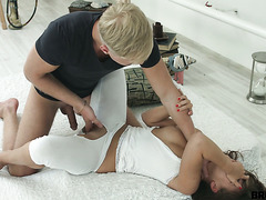 Hot Slavic Emma Brown gets manhandled by her insane boyfriend