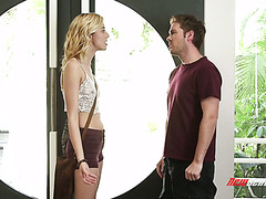 Lil Haley Reed dares him to fuck her stepsisterly pussy