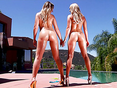 Blondies Blair Williams and Alexis Monroe in hell of a threesome
