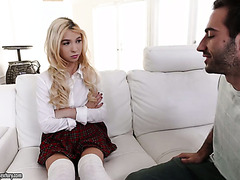 College teen Kenzie Reeves is smashed to strong orgasms