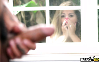 MILF Alesandra wraps her monster boobs around neighbor's cock