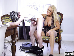 British mom Rebecca Jane Smyth goes hard on church boy's young cock