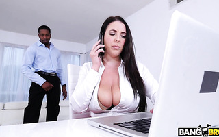 Busty boss Angela White goes wild over employee's BBC