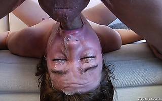 Jodi Taylor gags, pukes, and deepthroats during wild face fuck