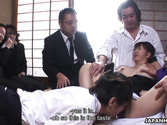 Busty Asian mom Waka Kano gets brutally gang fucked
