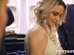 Adventurous babe Mia Malkova makes love with stranger on plane