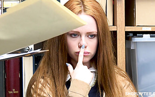 English ginger Ella Hughes services security guy's American cock