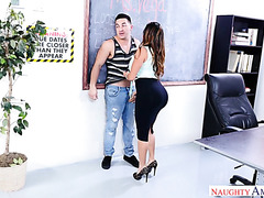 Phat teacher Julianna Vega makes college boy a real man