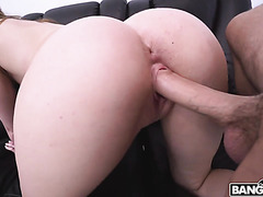 Daisy Stone sends her big white bubble booty for pounding