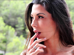 Tempting mom Alexa Tomas takes balls deep up her Spanish ass