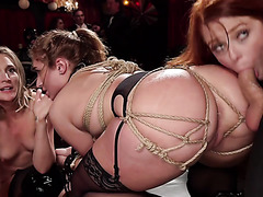 Phat assed Skylar Snow gets doggystyled on BDSM session