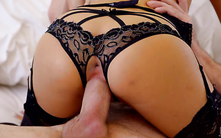 Lingerie clad Hime Marie is licked and fucked gently