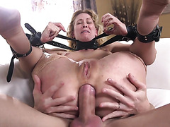 Cherie DeVille is tormented anally by huge dicked master