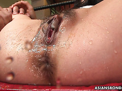 Submissive JAV Mika Shindo is toyed to explosive squirting